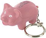 Pig Key Chain Stress Balls